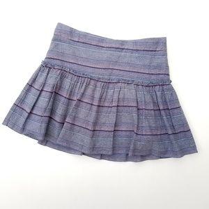 NEW Gapkids Striped Side Zip Skirt 12